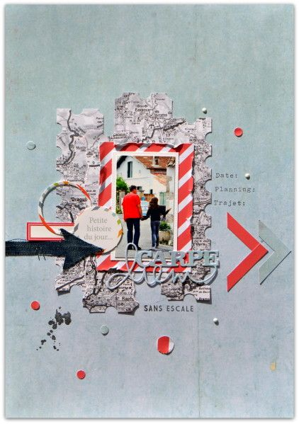 travel scrapbooking layout