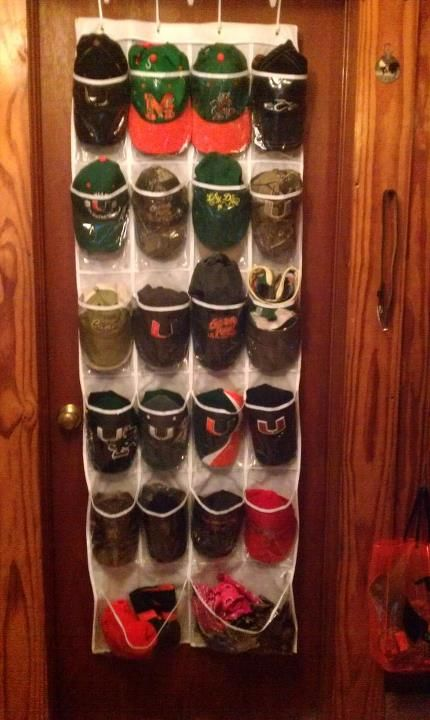 turned a shoe storage into a hat storage...