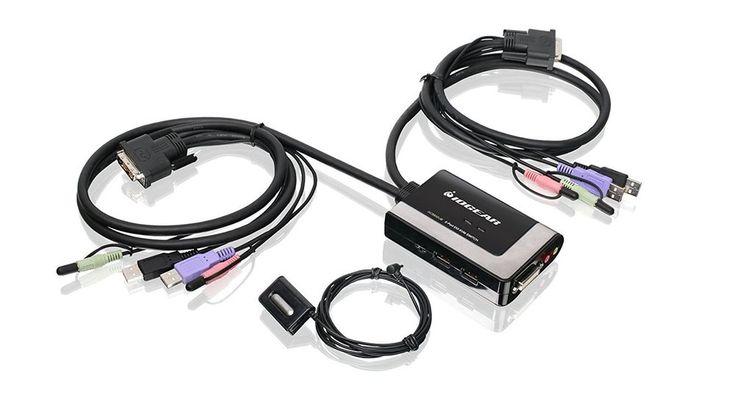Iogear 2-Port USB DVI-D Cable KVM with Audio and Mic #GCS932UB FREE SHIPPING #ATEN