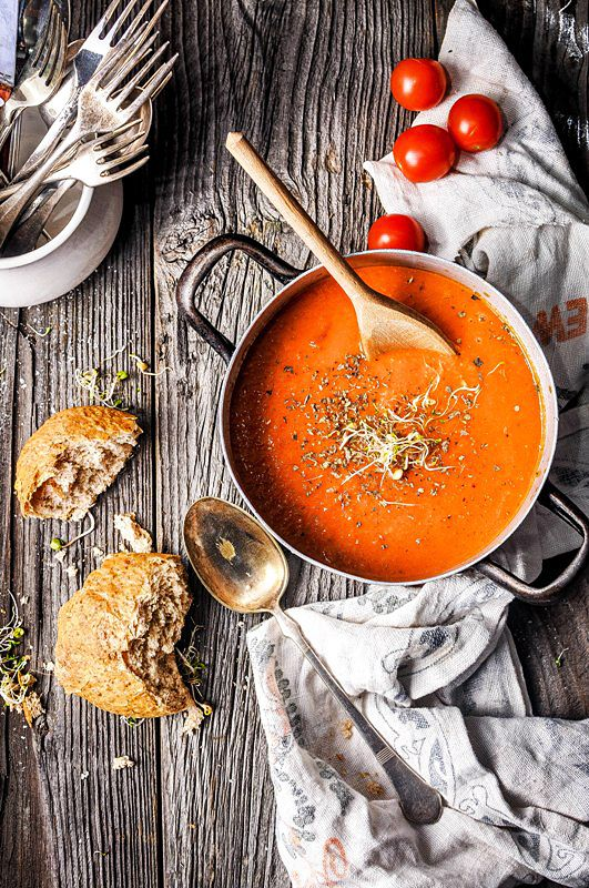 Pyszne Kadry: Zupa krem z pomidorów