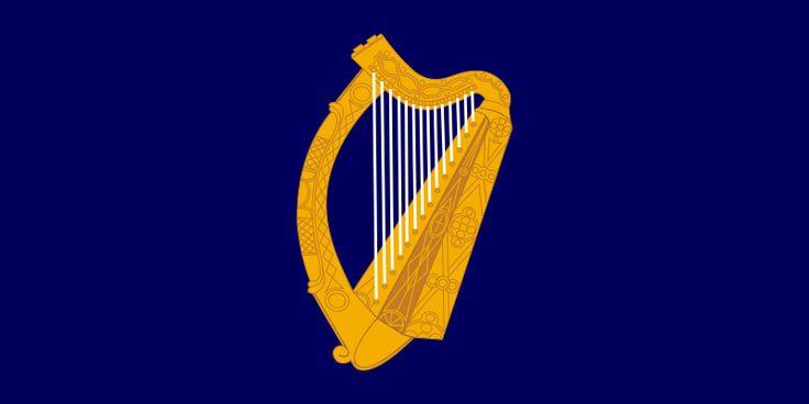 Bandeira presidencial da Irlanda. Standard of the President of Ireland.