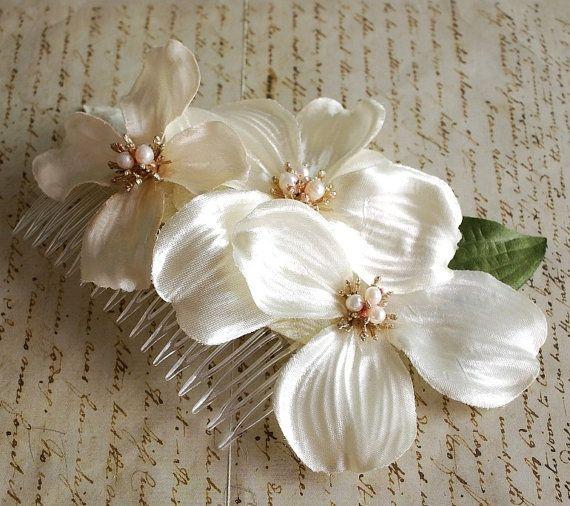 Pettine nuziale copricapo da sposa pezzo di di gardensofwhimsy