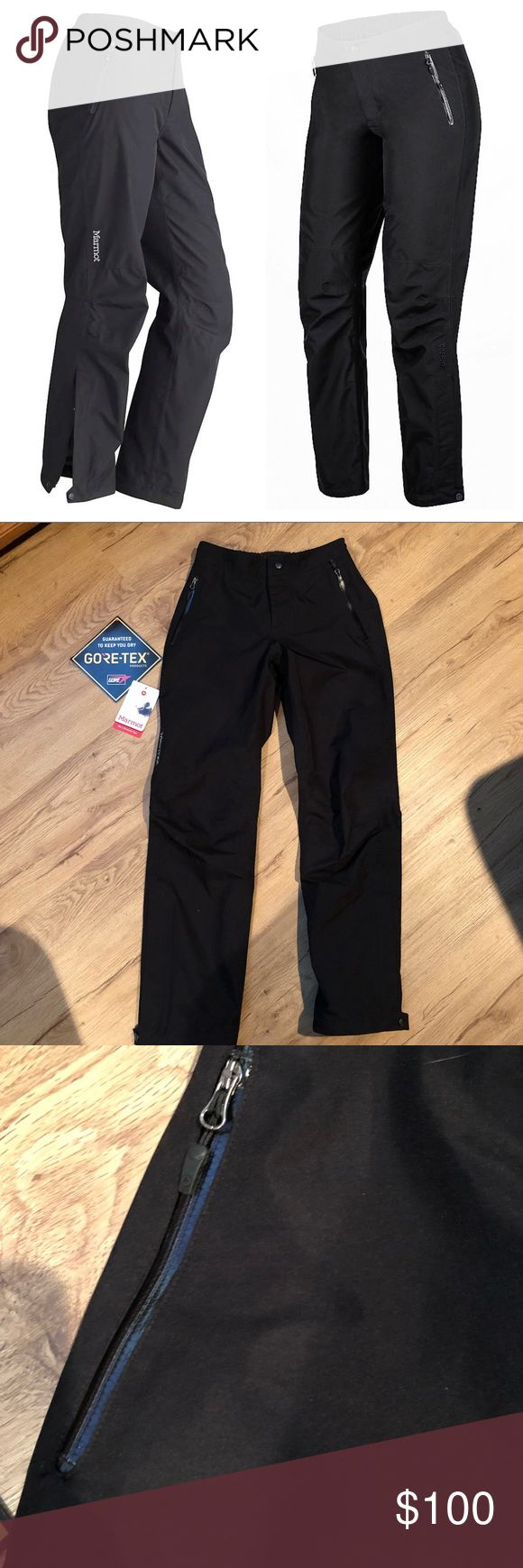 Marmot Minimalist Gore-Tex Pants Purchased and worn one time. A bit too small for me, so sadly I'm selling them. They are amazing pants that will keep you extremely dry. Size XS. Marmot Pants
