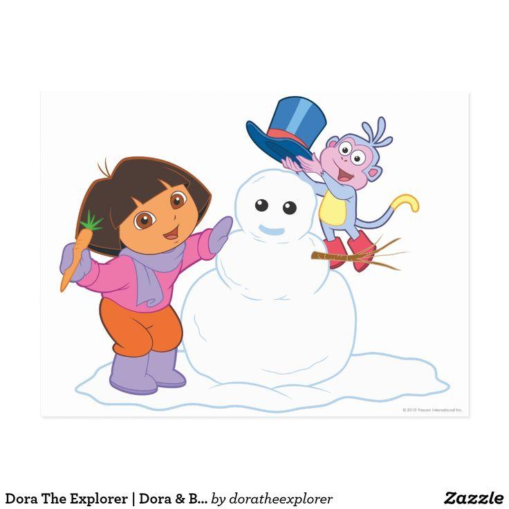 Dora The Explorer   Dora & Boots Make a Snowman. Regalos, Gifts. #tarjeta #postcard