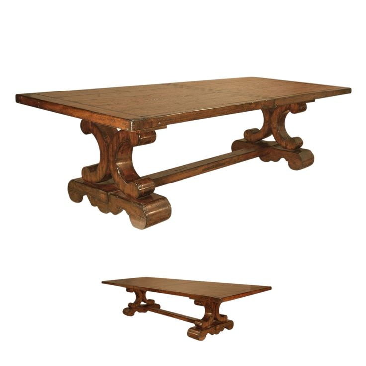Good Tuscan Dining Table, Sienna Trestle Dining Table, Spanish Style Dining Room  Table With Extensions