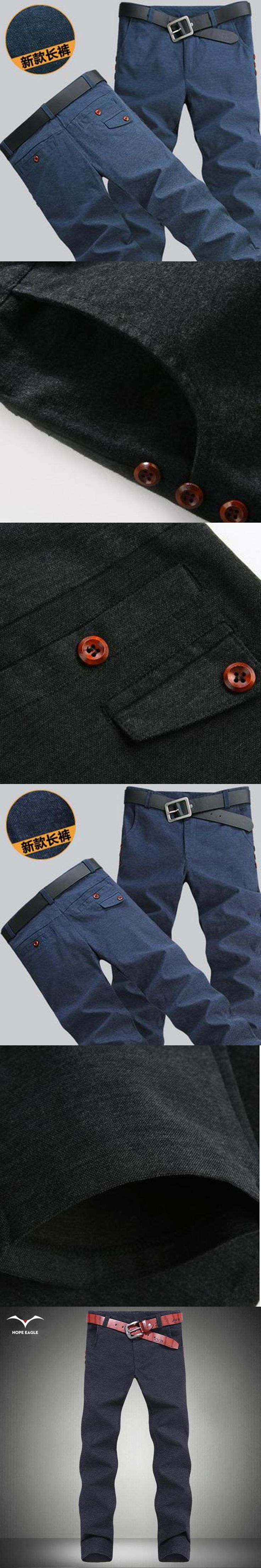 New Hot 2017 mens slim chinos fashion trend XL Men's cotton casual pants feet pants korean all-match Men's Spring Autumn Period