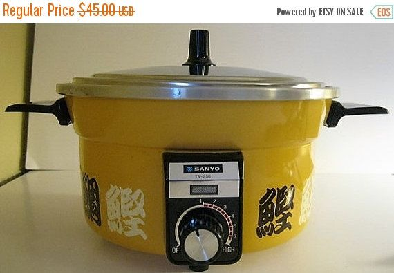 On Sale Vintage Sanyo Japanese Cooker Rice by cyclonecollectibles