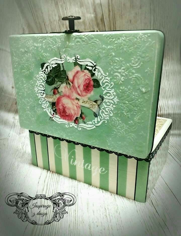 #decoupage #wooden #box #handmade #paris #shabby