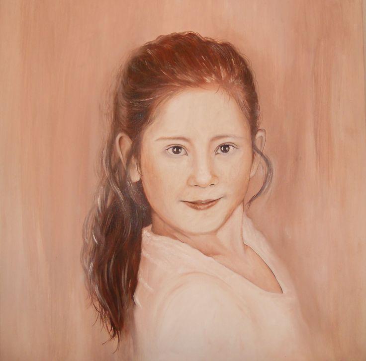 portrét olej na plátně/ Oil on Canvas  50x50cm