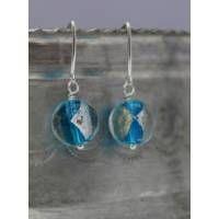 Lampwork Glass Earrings - Sky Blue