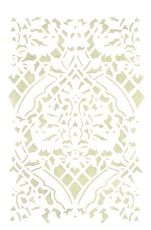 Large  Damask Wall Stencil