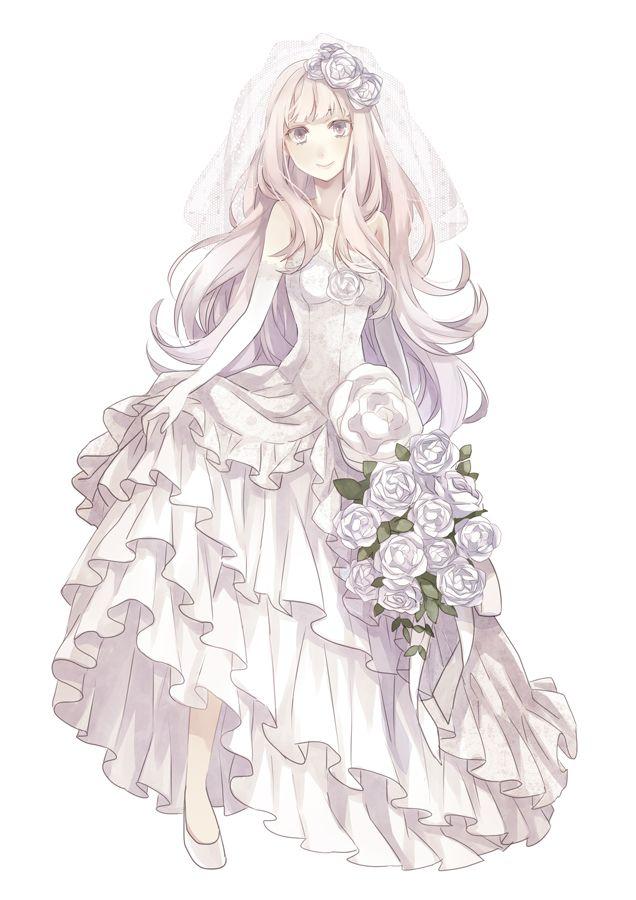 Tags Anime Wedding Wedding Dress Bouquet Yuzuki Karu Small Breasts | Anime Wedding ...
