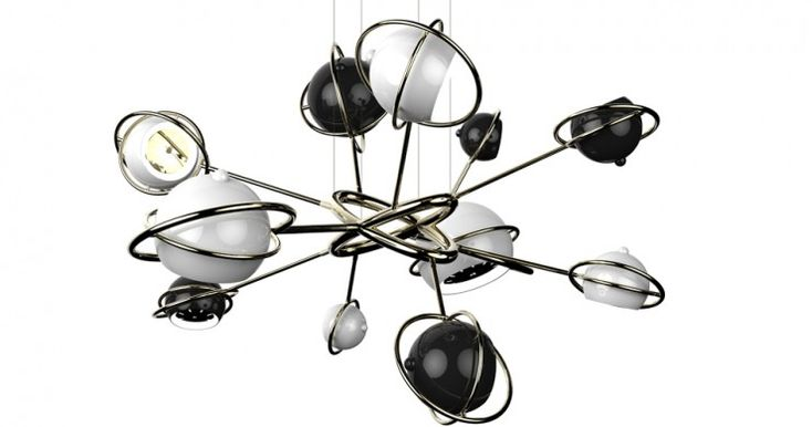 Cosmo, a luminária intergalática @delightfulll #vintage #lamps #freshclassics #suspensionlamps