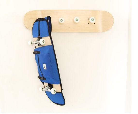 Perchero de skate y Bandolera monopatines azul de 7.5 - 8.5  Regalo para las chicos patinadores