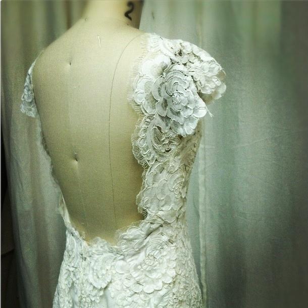Custom gown by Carol Hannah Whitfield