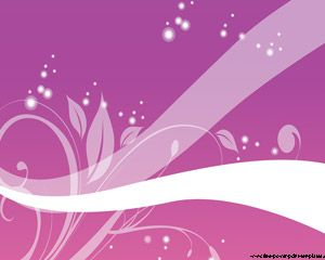 We offer you a cool PPT design with gradient purple background and some floral brushes