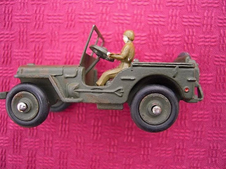 "Vintage Dinky Toys Meccano No 80B JEEP MILITARY Die-Cast Made in France 2 1/2"" #DinkyToys"