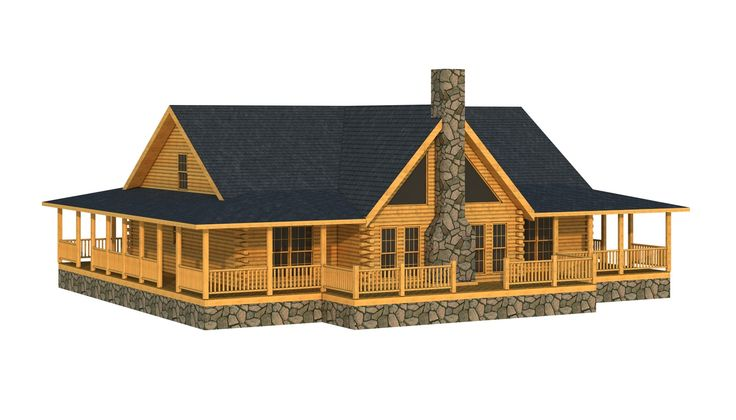 """""""The Abbeville"""" is one of the many log cabin home plans from Southland Log Homes. You can customize the Abbeville to meet your exact needs with our free design tools."""