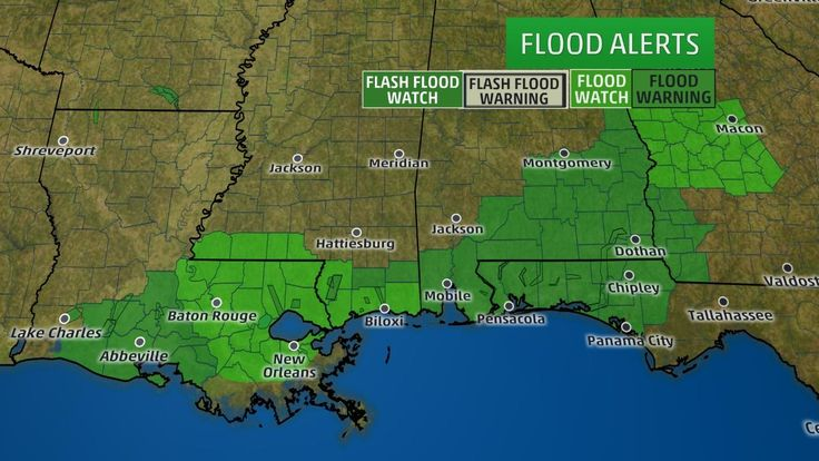 Current Flood Watches and Warnings