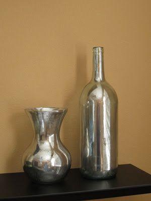 DIY Mercury Glass effect with @Kirstie Malley Rylon®  Looking Glass spray paint