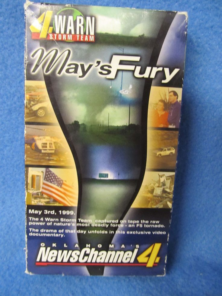 May's Fury Tornados KFOR Oklahoma News Channel 4 VHS tape #eBay