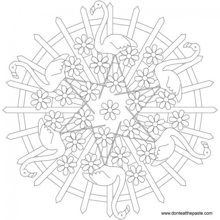 Awesome Printable Coloring Pages For Older Kids 60 Flamingo mandala printable coloring