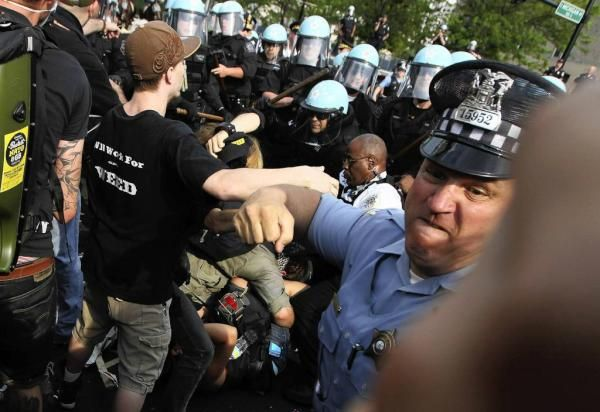 More abuse by the NYPD against OWS protesters in lower Manhattan. Robin attended protests in Zuccotti Park back in 2011.