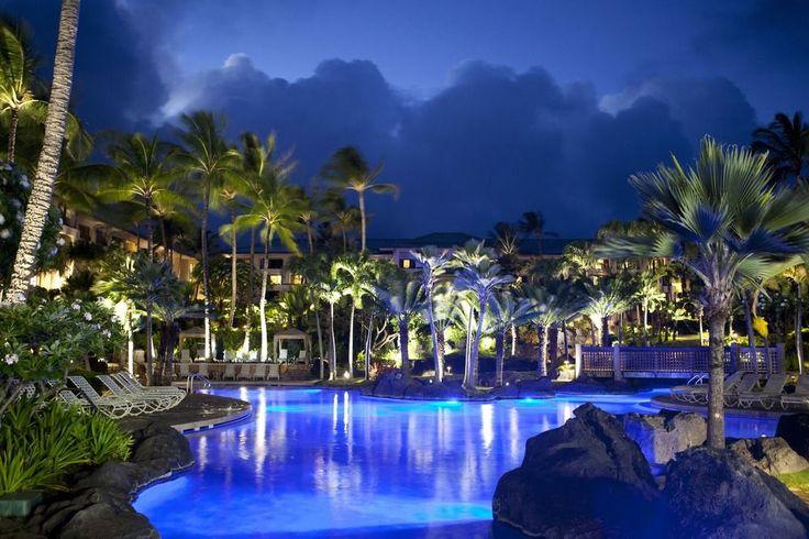 Grand Hyatt Kauai Resort & Spa - swimming pool by night
