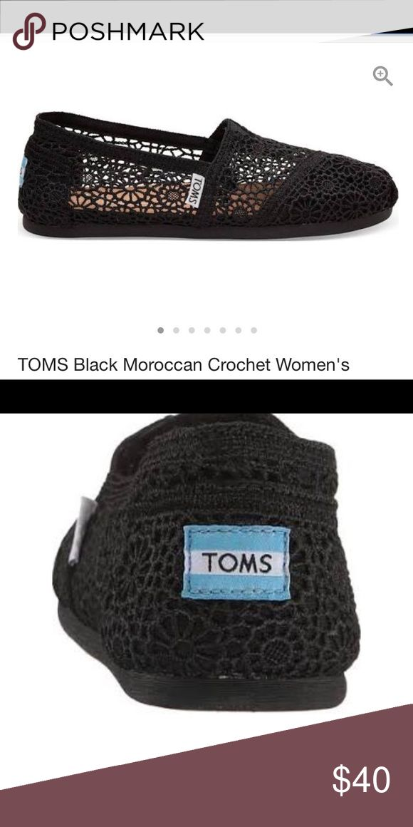 Perfect Conditon Toms Crochet Slip On Perfect condition Classic Crochet Slip one. Women's size 7. Purchased from Journeys Toms Shoes