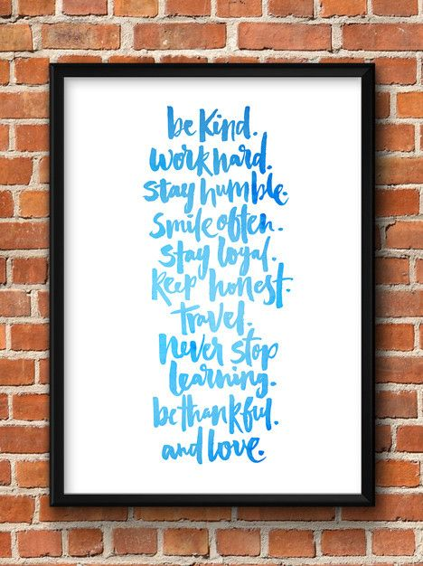 Art Print - Simple rules to live by