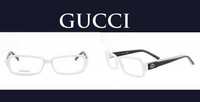 Oprawki do okularów GUCCI Unisex Kategoria:Oprawki Kolekcja:gg3124 Kolor(y):biały - błyszczący czarny - stalowy Kolor soczewki: transparentny Skład: Acetat Szczegóły:logo marki Pudełko, Certyfikat Autentyczności, Ściereczka do czyszczenia