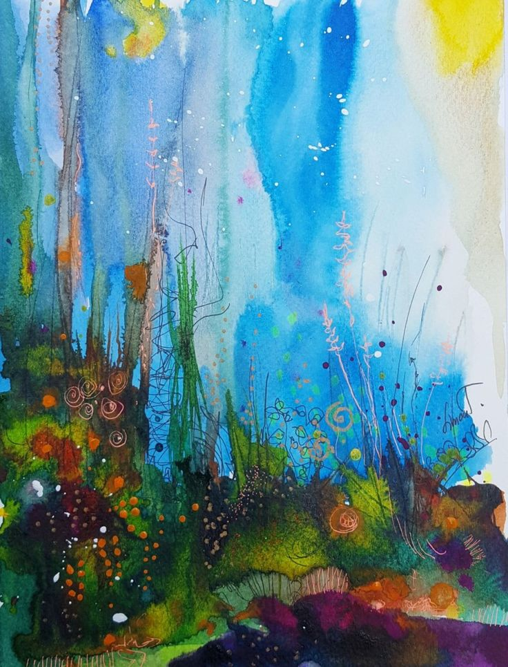 An original emotion-inspired drawing/painting on paper. Expressive in style, this piece of fine art is an inexpensive way to incorporate original artwork to any interior - adding life and beauty. A...