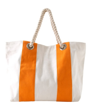 Take a look at this Orange Riviera Tote by Shiraleah on #zulily today!
