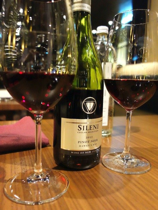 New Zealand Sileni Cellar Pinot Noir at Chambers Grill at The Hilton in Kuala Lumpur.