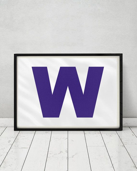 Chicago Cubs World Series Win W Flag Poster Print by ManCaveStore #ChicagoCubs #WorldSeries #ChristmasGiftideas