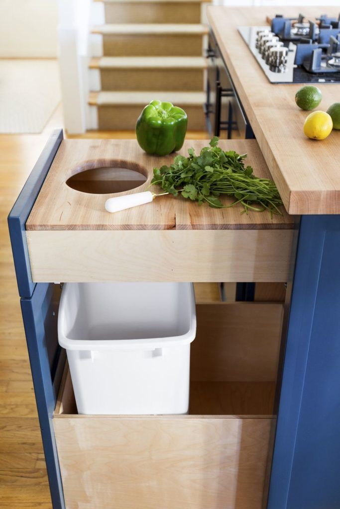 Here S A Clever Solution For A Kitchen Short On Counter Space Build A Butcher Block Board Into A Drawer Like Designer J Design Your Kitchen Kitchen Upgrades Small Kitchen Storage