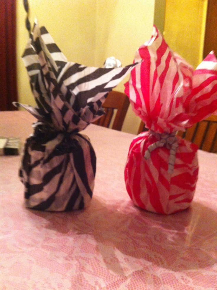 Do yourself party centerpieces tissue paper and toilet Toilet paper roll centerpieces