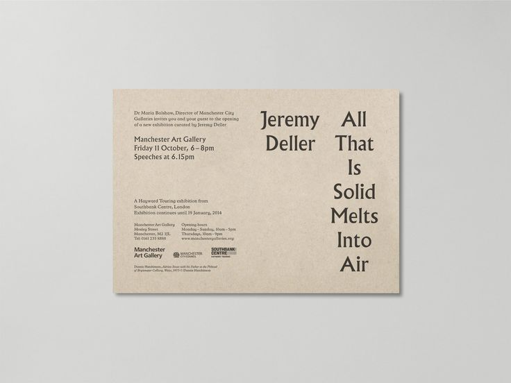 Jeremy Deller: All That Is Solid Melts Into Air — A Practice for Everyday Life