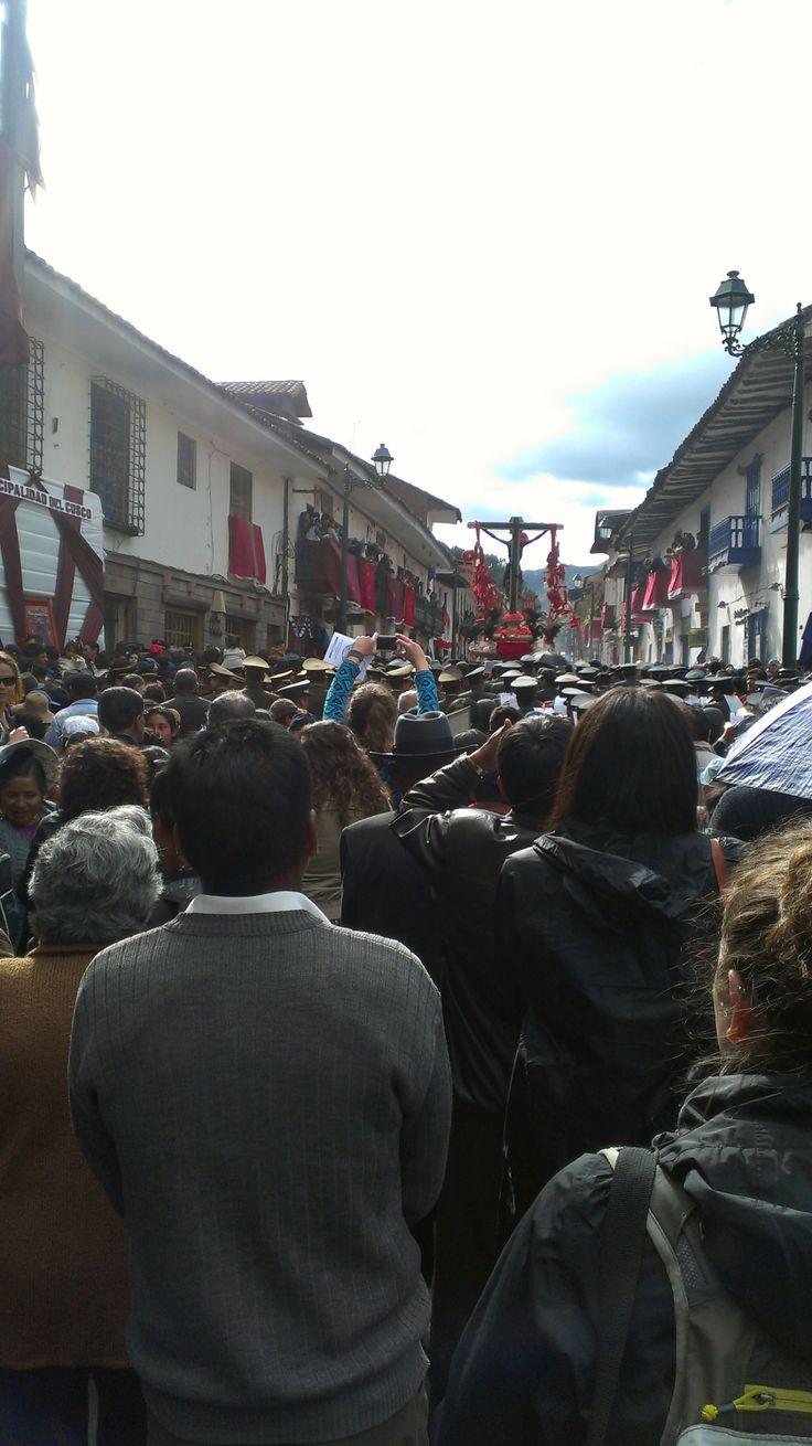 Señor de los Temblores in Cusco, Peru: http://www.dosmanosperu.com/blog/celebrating-semana-santa-cusco-peru/