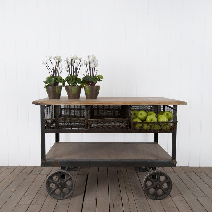 Vigoureux Kitchen Bench Trolley from Provincial Home Living. 81 best Industrial Evolution images on Pinterest