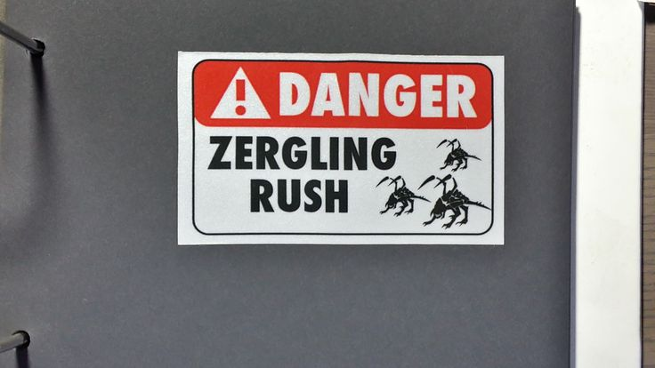 StarCraft zergling rush sticker