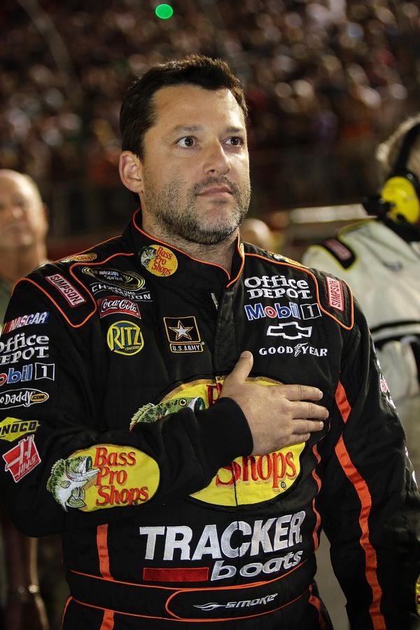 Tony Stewart before the start of the All Star Race 5/19/12, tony finished 17th...