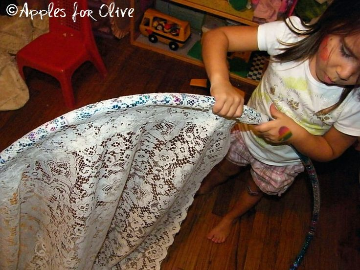 DIY Hula Hoop Canopy. I keep pinning this idea & I swear I am really going to make one soon
