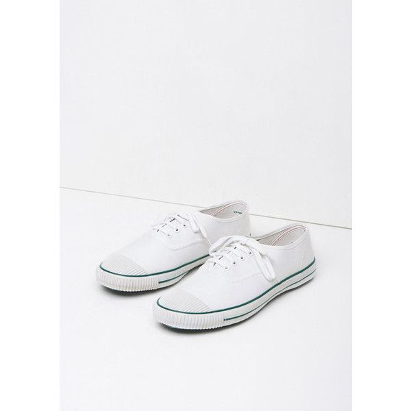 Bata Original Tennis Sneaker ($18) ❤ liked on Polyvore featuring shoes, sneakers, white, tennis sneakers, tennis trainer, white tennis shoes, tennis shoes sneakers and white sneakers