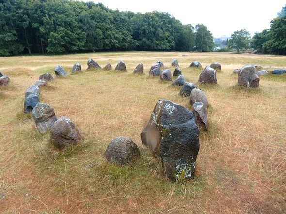 Viking burial stones near Aalborg, Denmark Tour of Denmark's west coast