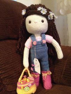 My Crochet Doll, Amigurumi Doll, Crochet Doll, Alex - for little girl who lost her little toe :-( ♡