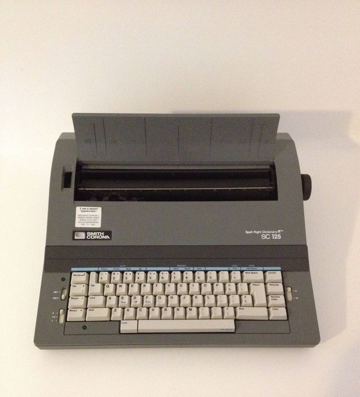 Excited to share the latest addition to my #etsy shop: Smith Corona Electric Electronic SC 125 Portable Typewriter w/ Cover Carrying Case Spell Right Dictionary Ribbon Office Student Working Gray http://etsy.me/2GGp20I #housewares #office #typewriter #workingtypewriter