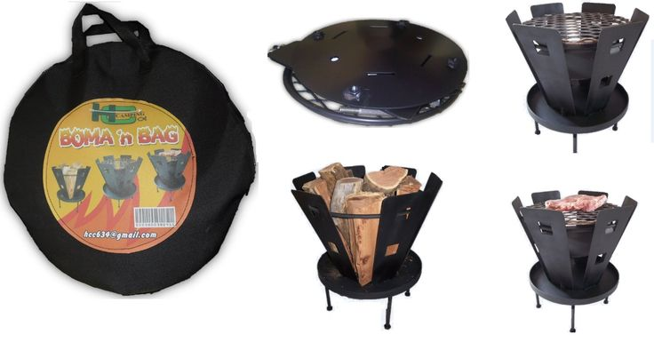 It's a Boma!       It's a Braai!  It's both!!!!  It's made from high quality steel.  Folds up into a high quality carry bag.  It is all made in South Africa!!! (Not in China)  Cost: Boma 'n Bag R 595 .00  Courier / Delivery: Pretoria  Johannesburg Free Other places R80.  Tel: 012 335 8521 Email: hcc634@gmail.com