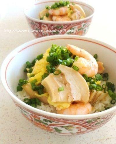 「塩麹三昧☆車麩たまごdeプリッと海老丼」のレシピ by RUNEさん | 料理レシピブログサイト タベラッテ