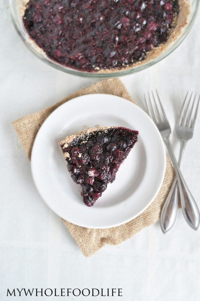 Healthy Blueberry Pie - My Whole Food Life
